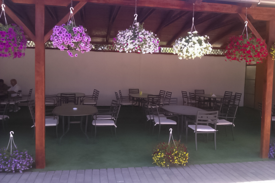 Terasa Restaurant Turda Pensiunea Pusca si Cureaua Lata