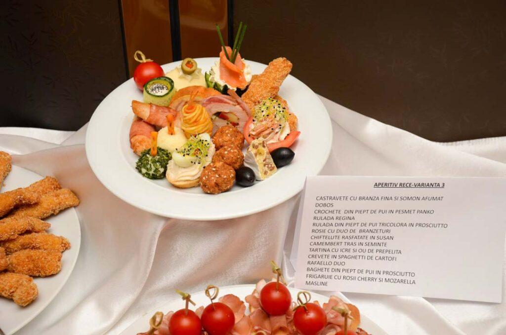Meniu Restaurant nunta Turda - varianta aperitiv rece